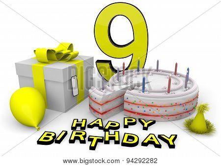 Happy Birthday In Yellow