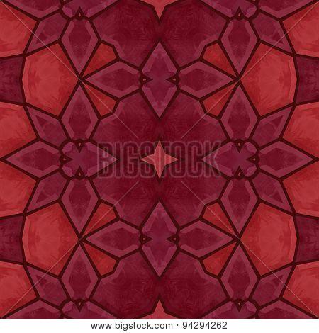 Red Kaleidoscope Pattern - Background Texture