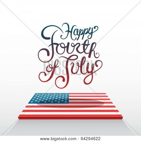 Digitally generated Patriotic fourth of july vector