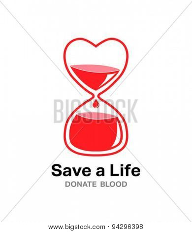 Digitally generated save a life donate blood vector