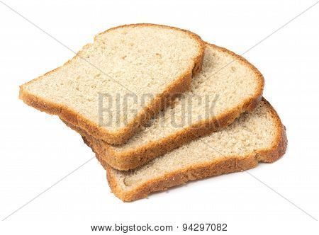 Sliced Bread Closeup. Isolated On White Background