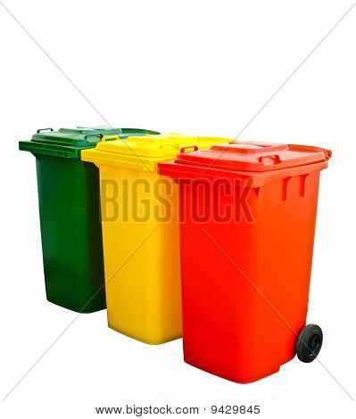 Colorful Recycle Bin Isolated