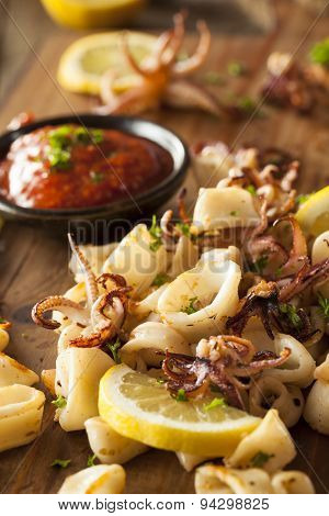 Homemade Fresh Grilled Calamari