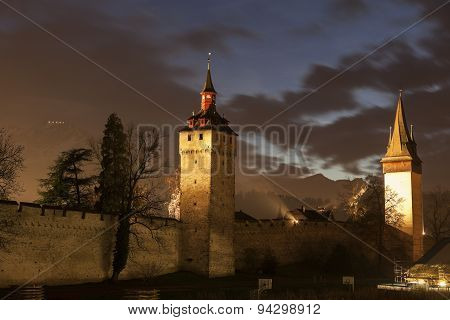 City Wall Towers in Lucerne