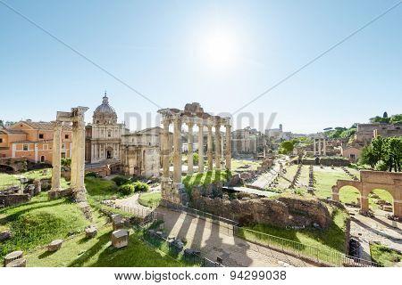 Roman ruins in Rome, Italy