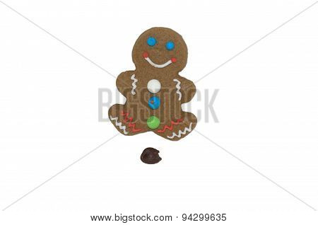 Pooping Gingerbread Man