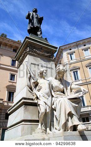 Statue Marco Minghetti In Corso Vittorio Emanuele Ii, Rome, Italy