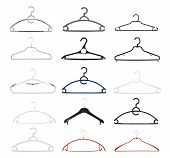 pic of foreshortening  - Clothes coat hanger isolated over white background - JPG