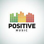 picture of rastafari  - Reggae music equalizer logo emblem vector design - JPG