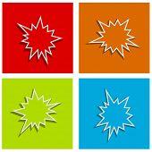 picture of starburst  - splash starburst festive abstract background set - JPG