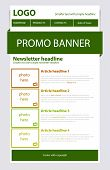 picture of newsletter  - Responsive newsletter green template with spring colors - JPG