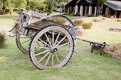foto of ox wagon  - Closeup decoration design of Thailand - JPG