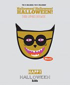 picture of evil  - Bright trick or treat card in vector - JPG
