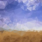 stock photo of low-light  - Abstract low poly background - JPG