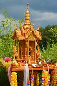 image of spirit  - Spirit houses known as San Phra Phum are put up in the region of Eurasia whenever a plot of land is built on - JPG