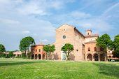 stock photo of graveyard  - Certosa of Ferrara the ancient graveyard of the city - JPG