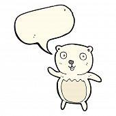 foto of bear cub  - cartoon polar bear cub with speech bubble - JPG