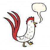 picture of cockerels  - cartoon cockerel with speech bubble - JPG