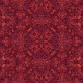 pic of kaleidoscope  - Red kaleidoscope pattern  - JPG