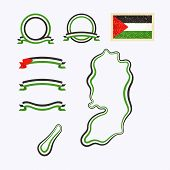 stock photo of nationalism  - Outline map of Palestine - JPG