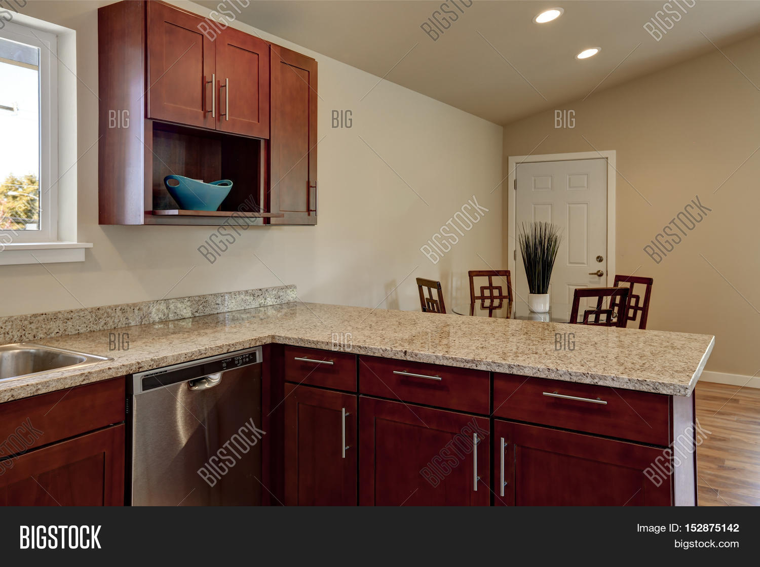 View burgundy kitchen cabinets image photo bigstock for Burgundy kitchen cabinets pictures
