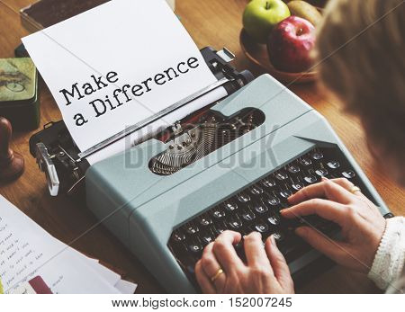 Make a Difference Development Progress Concept