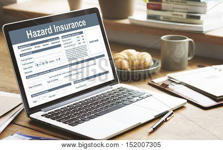 Hazard Insurance Damage Harm Risk Safety Concept
