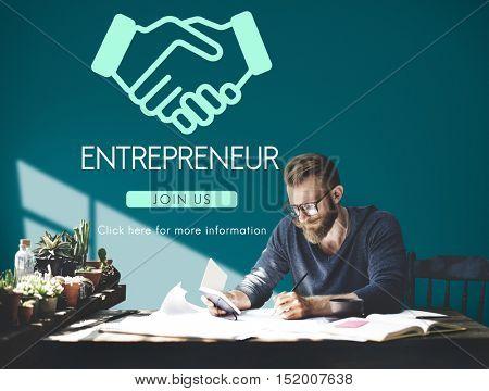 Entrepreneur Business Venture Handshake Graphic