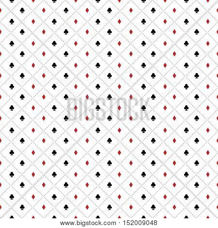 abstract poker background with some special objects clover and diamond
