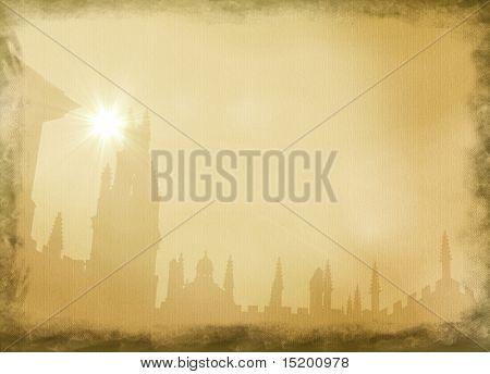 alte Leinwand Stadt scape