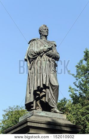 Odessa, Ukraine - September 02, 2016: Monument to the governor of New Russia Prince Mikhail Vorontsov