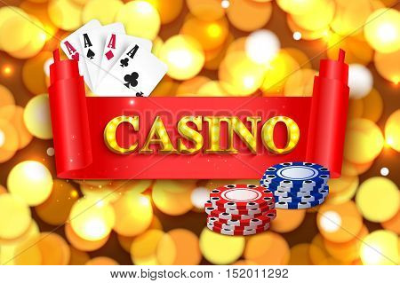 Online casino background for poster, flyer, billboard, web sites, gambling club.