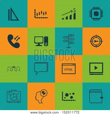 Set Of 16 Universal Editable Icons For Business Management, Project Management And Advertising Topic
