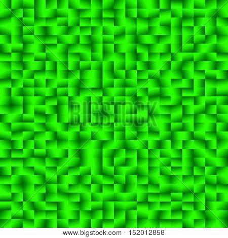 Mosaic Of Squares With Random Gradients. Mosaic, Stonework Pattern.