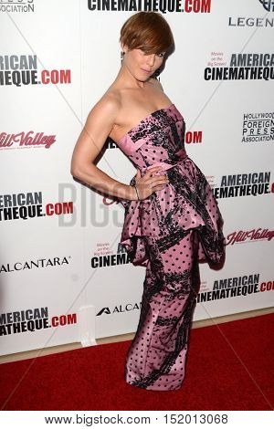 LOS ANGELES - OCT 14:  Noomi Rapace at the 2016 American Cinematheque Awards at Beverly Hilton Hotel on October 14, 2016 in Beverly Hills, CA
