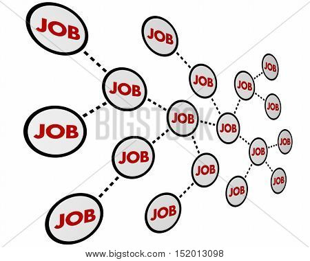 Job Career Working Network Experience 3d Illustration