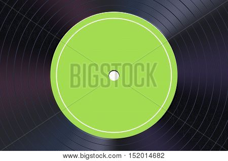 illustration of shiny vinyl record closer view