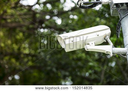 CCTV security camera surveillance in the park