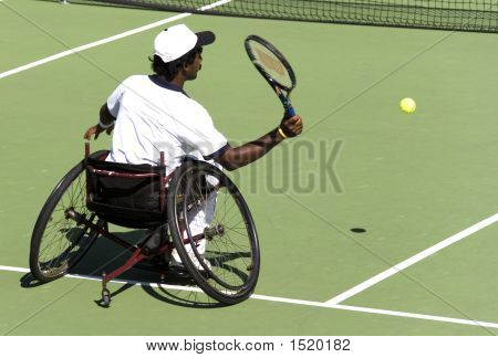 Wheel Chair Tennis For Disabled Persons