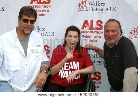 LOS ANGELES - OCT 16:  Fred Fisher, Nanci Ryder, ALS Drug Exec at the ALS Los Angeles County Walk To Defeat ALS at the Exposition Park on October 16, 2016 in Los Angeles, CA