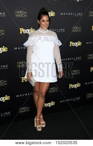 LOS ANGELES - OCT 13:  Angelique Cabral at the People's One To Watch Party at E.P. & L.P on October 13, 2016 in Los Angeles, CA