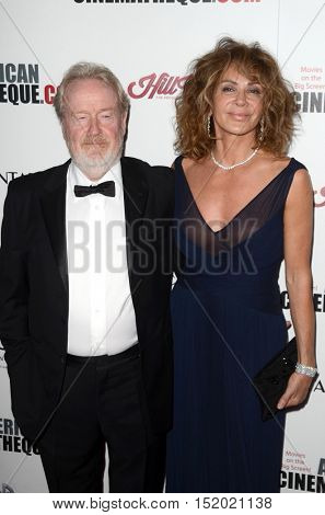 LOS ANGELES - OCT 14:  Ridley Scott, Giannina Facio at the 2016 American Cinematheque Awards at Beverly Hilton Hotel on October 14, 2016 in Beverly Hills, CA