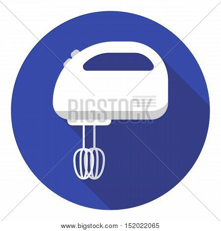 Mixer icon in flat style isolated on white background. Household appliance symbol vector illustration.