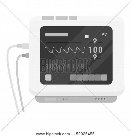 Ecg machine icon monochrome. Single medicine icon from the big medical, healthcare monochrome.