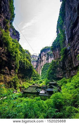 Wulong National Park, Chongqing, China the most famous place of valley in china world heritage landscape
