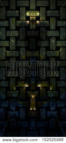 mystical cosmic scenery in geometric grating structure