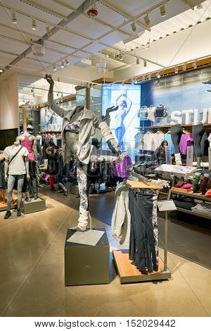 CHICAGO, IL - 01 APRIL, 2016: Under Armour on Michigan Avenue in Chicago. Under Armour, Inc. is an American sports clothing and accessories company.