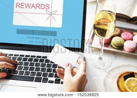 Rewards Coupon Gift Certificate Shopping Concept