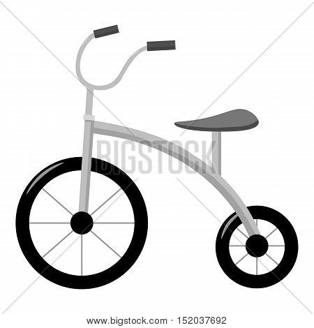 Tricycle icon in monochrome style isolated on white background. Play garden symbol vector illustration.