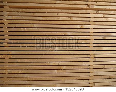Stocked Wooden Planks For A Construction